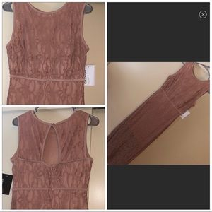 NWT Dusty Pink Lace Dress